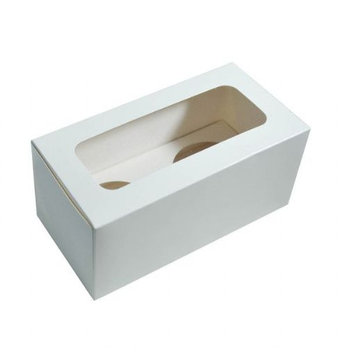 Double Cupcake Box (Holds 2 cupcakes)